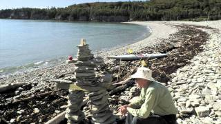 Bay of Fundy Tide time-lapse, Cape Enrage, Barn Marsh Beach,