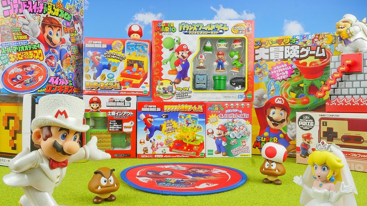 Super Mario Surprise Toys Opening Toys For Kids Unboxing Video