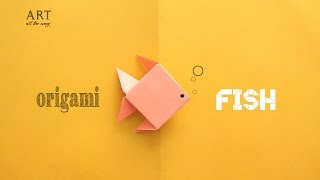 DIY: Simple Origami Fish - Paper Craft Tutorial