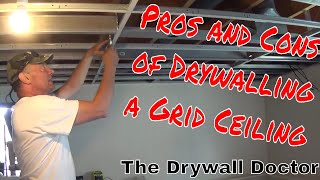 How to Hang Drywall from a Grid Drop Ceiling