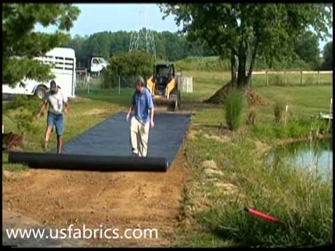 U.S Fabrics Inc. Driveway Fabric Installation Video