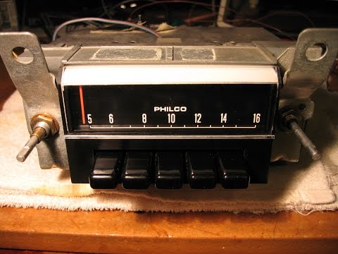 Philco Ford Car Radio Repair and Alignment