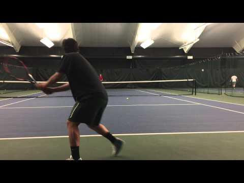 Miguel Perez Monge  College tennis recruiting video Part 1