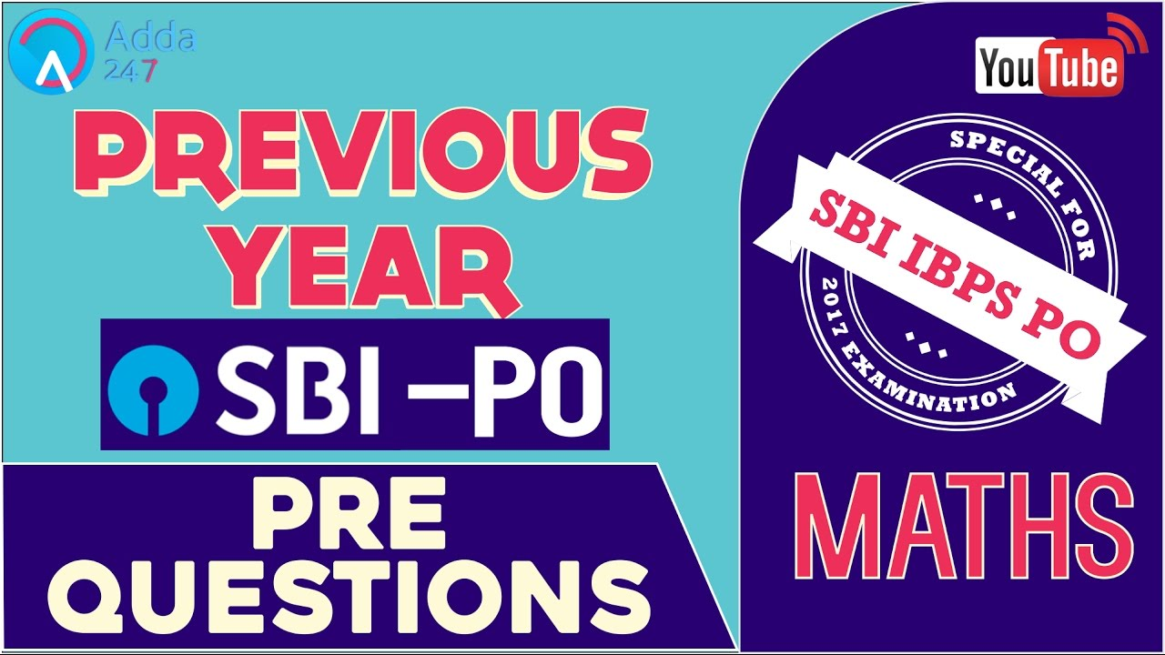 SBI PO 2017 | Previous Year SBI PO PRE Questions | Maths | Online ...