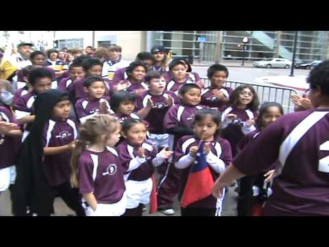 Rugby SBYR Spartans Haka in Petco Park tunnel