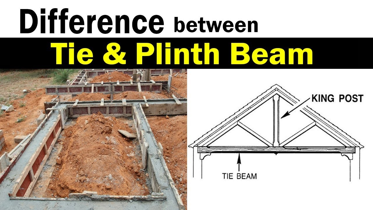 Difference between Plinth beam and Tie beam and their purpose in  construction