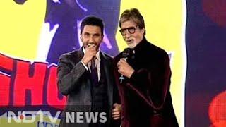 On stage, Ranveer Singh does a Big B