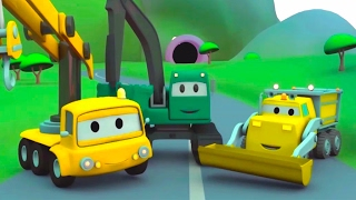 Construction Squad: the Dump Truck, the Crane & the Excavator build and play with their friends
