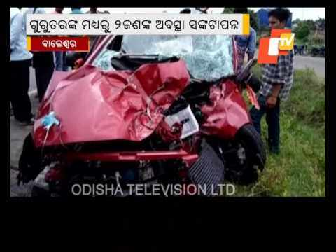 Three critcial in car accident in Balasore