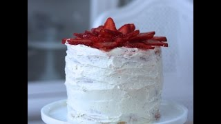 How To Build And Frost A 4 Layer Strawberry Cake With Swiss Meringue Buttercream