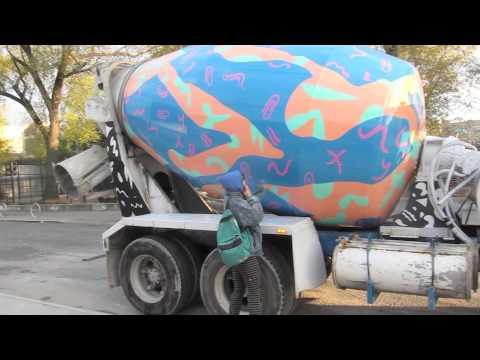 Collaborative Cement Truck Mural