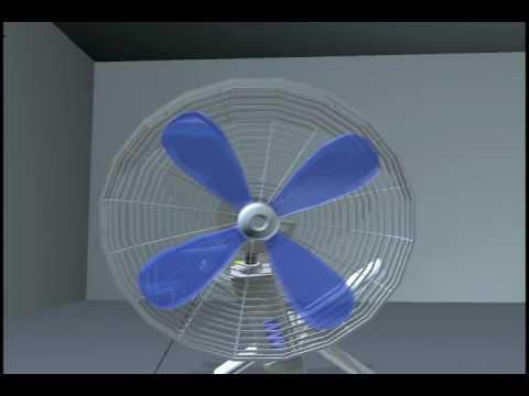 3D MAYA Animation: The Fan