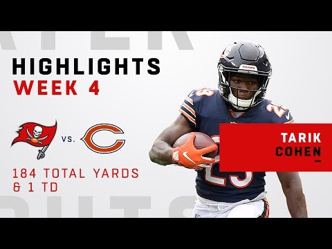 Tarik Cohen Takes Down Tampa Bay W/ 184 Total Yards