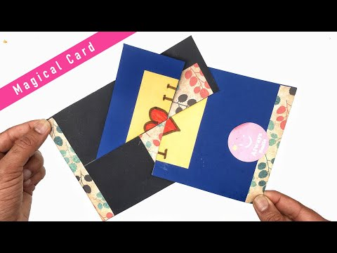 Magical Rotating Secret Card - DIY Tutorial by Paper Folds - 982