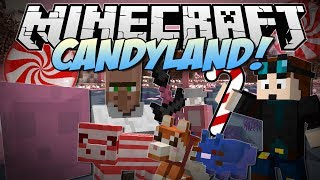 Minecraft | CANDYLAND! (Candy Cane Pigs, Chocolate Dogs, Candy Dimension & More!) | Mod Showcase