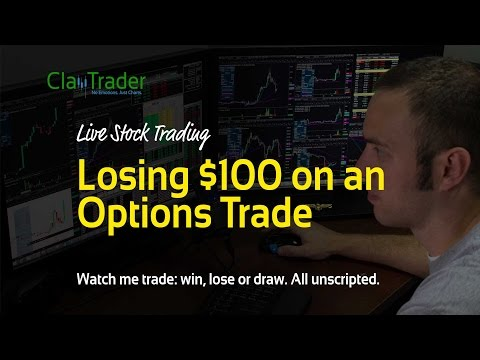 Live Stock Trading - My 3rd Ever Options Trade