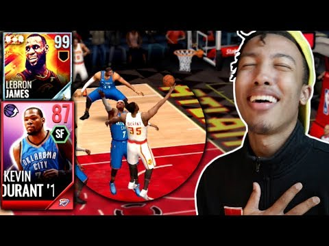 GRINDING FOR 99 LeGOAT, '14 DURANT GAMEPLAY! (NBA LIVE MOBILE)