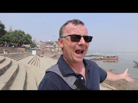 Varanasi Steps or Ghats to the Ganges River Aarti ceremony to Nirvana beyond life India vlog 4