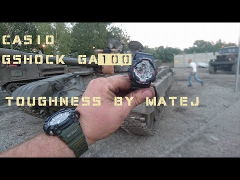 Casio G-Shock GA100 Toughness tests by Matej, ciekawostki, G shock test