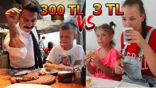 3 TL  VS. 300 TL 'lik Akşam Yemeği! SİMİTÇİ VS. NUSRET