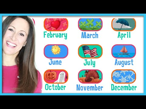 12 Months of the Year  Calendar song  Children Song  Twelve Months Song  Patty Shukla