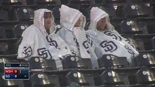 WSH@SD: Rain delay called before second batter