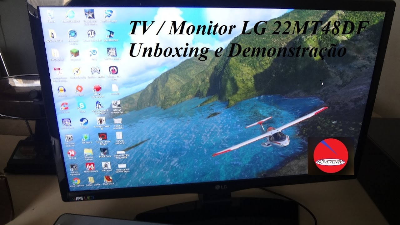 Tv monitor Lg 22MT48DF   DEMONSTRAÇÃO - YouTube 180c402131