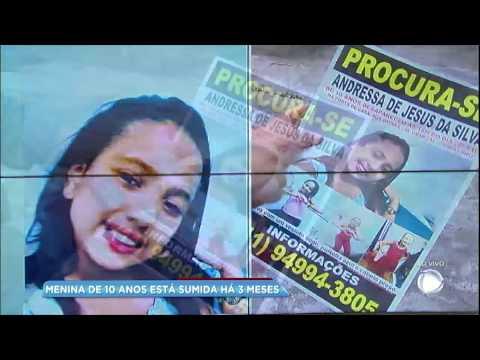 Balanço Geral traz novas informações sobre menina de 10 anos que está desaparecida há 3 meses