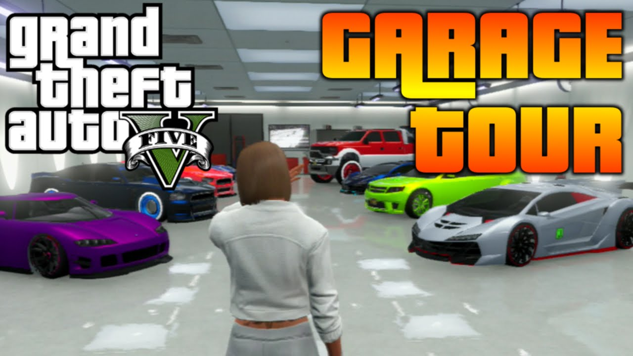 Gta v garage tour of both online garages cool car and for Garajes gta v online