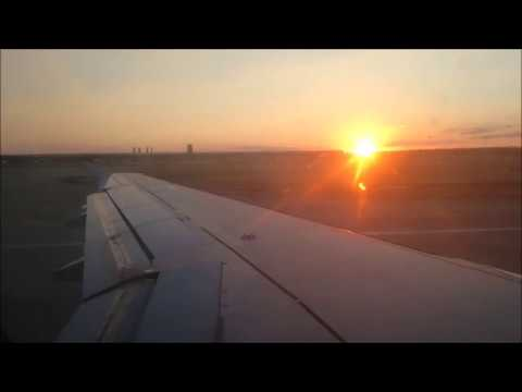 Awesome Sunset Take-off Madrid | Iberia Express | A320 (EC-LLE) | [FULLHD]