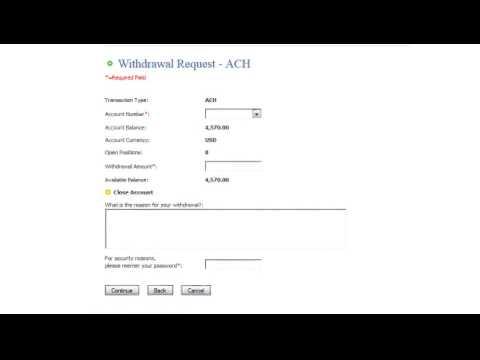 Withdraw Via ACH, BACS, EFT, SEPA