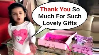 Ms Dhoni Daughter Ziva Dhoni Thanking For Gifts - Cute Video