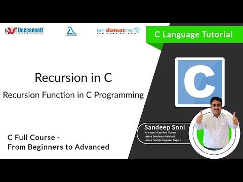 Recursion Function in C Language -  bestdotnettraining.com