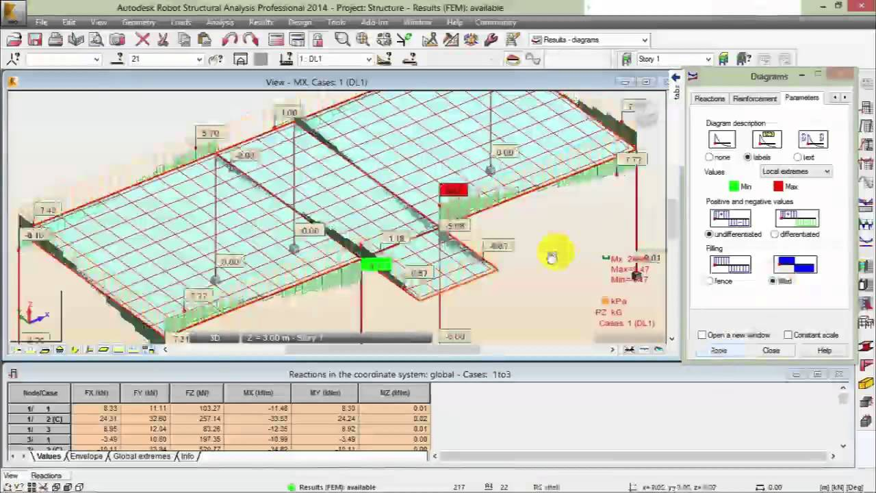 Analysis Design Reinforcement Concrete By Autodesk Robot Youtube