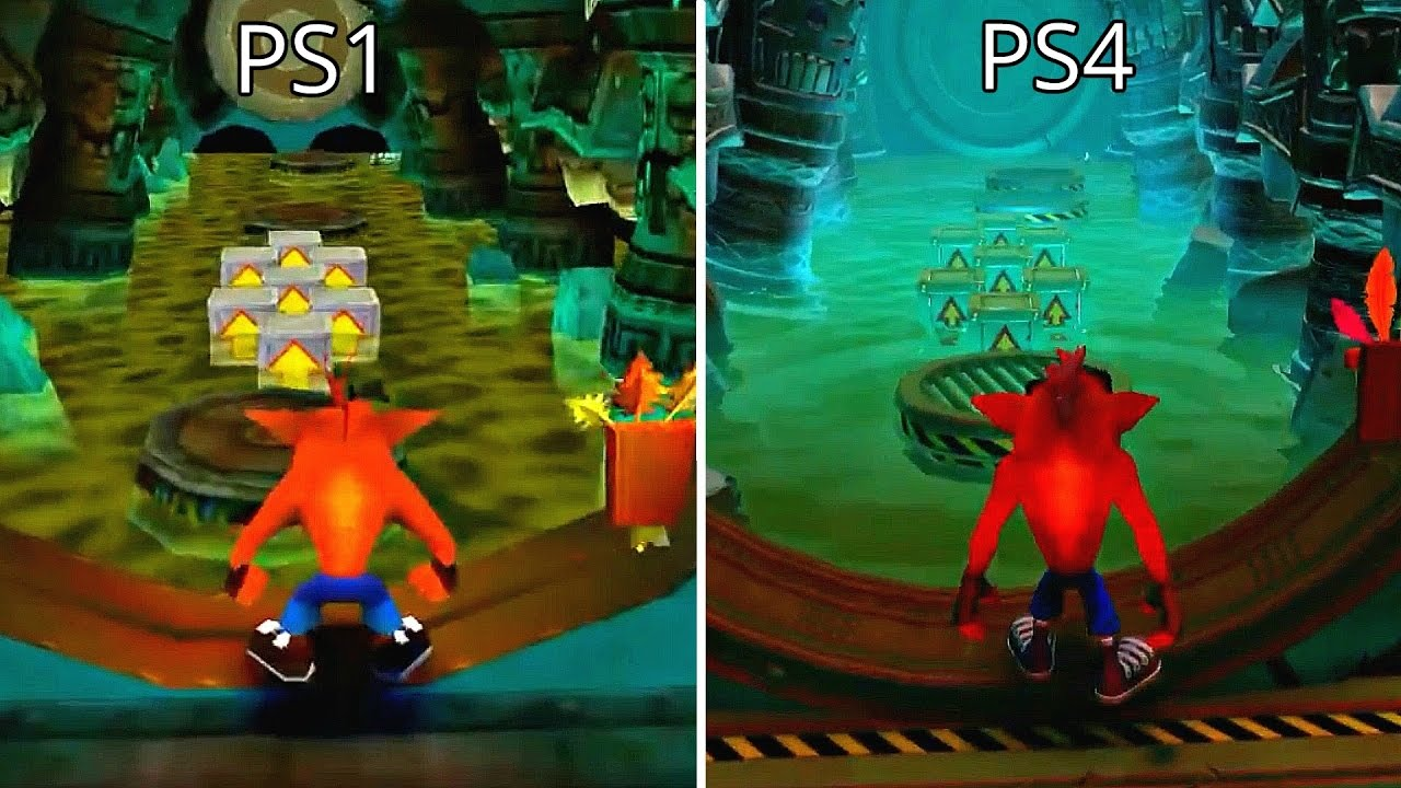 Understanding Nostalgia - Crash Bandicoot before and after