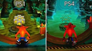 Crash Bandicoot 2 N.Sane Trilogy Remaster PS4 vs PS1 Graphics Comparison (Sewer or Later)