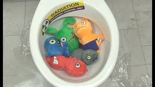 Will it Flush? - UglyDolls ! 5-Minute Crafts Experiment Flush it - Ugly Dolls