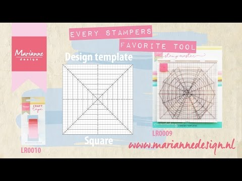 Marianne Design Stamp Master | the square Design template | Cardmaking