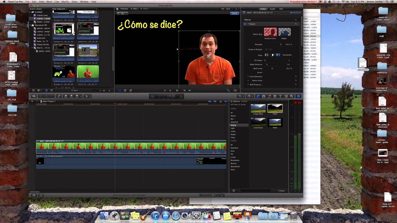 Making Of My Videos Green Screening In Final Cut Pro Youtube
