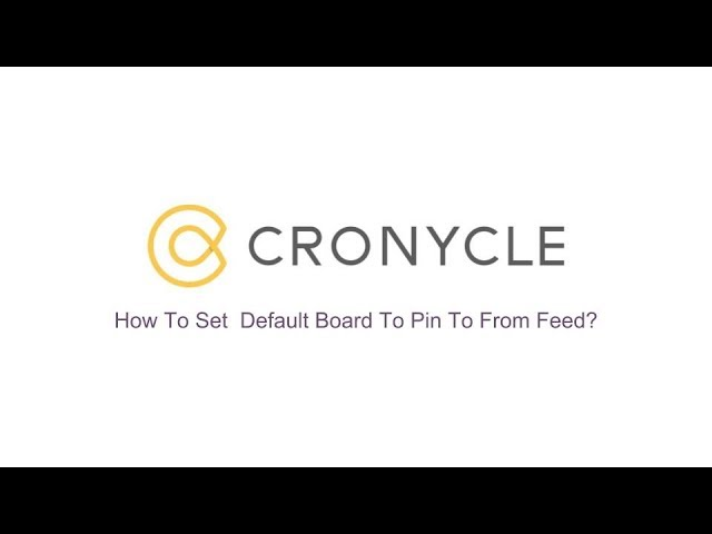 Set  Default Board To Pin To From Feed