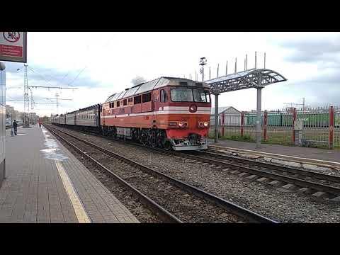 ТЭП70-565 с пригородным поездом Киров - Луза