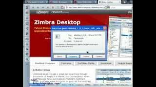 Yahoo! Zimbra Desktop обзор и установка программы