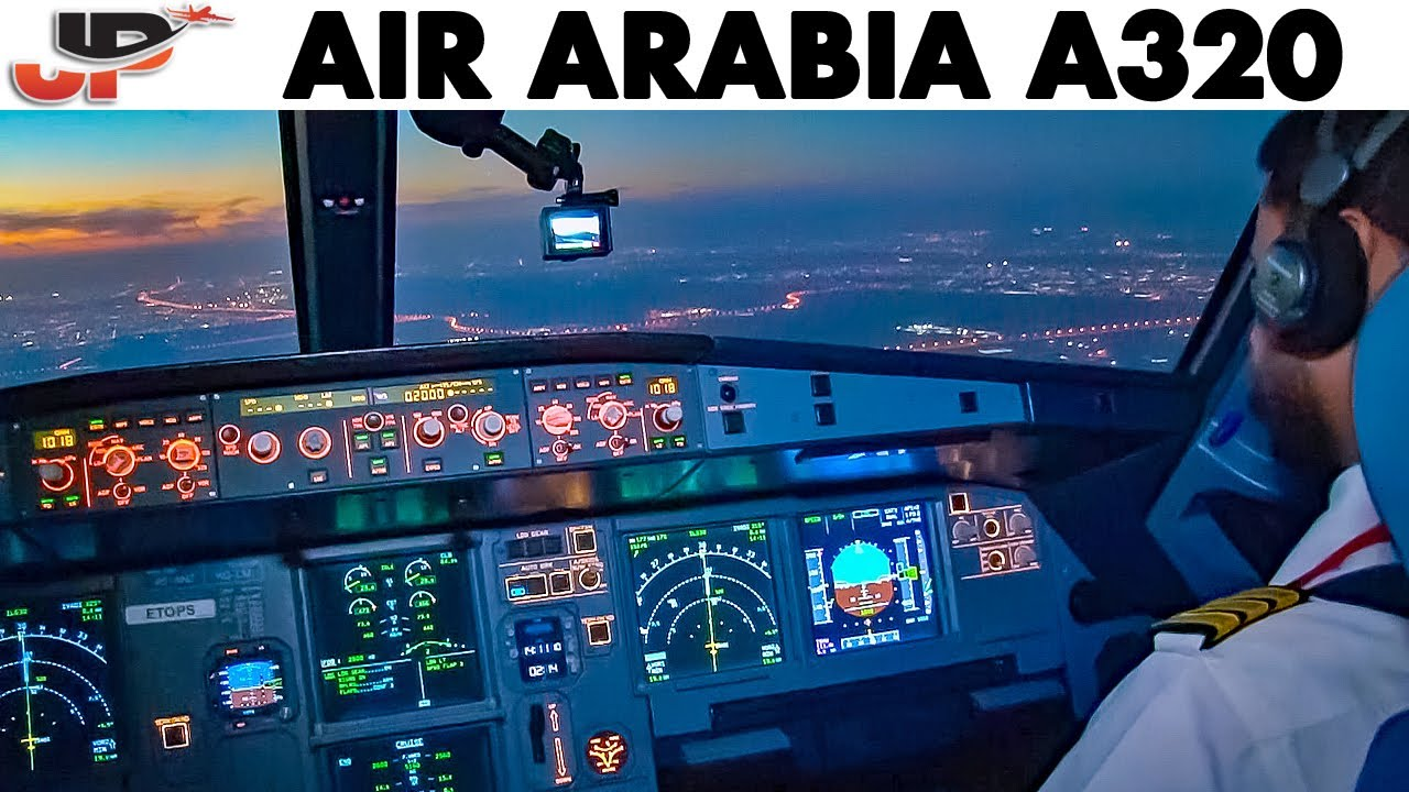 Piloting Airbus A320 from Madinah to Sharjah | Cockpit Views