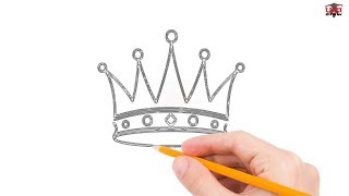 How to Draw a Crown Step by Step Easy for Beginners/Kids – Simple Crowns Drawing Tutorial