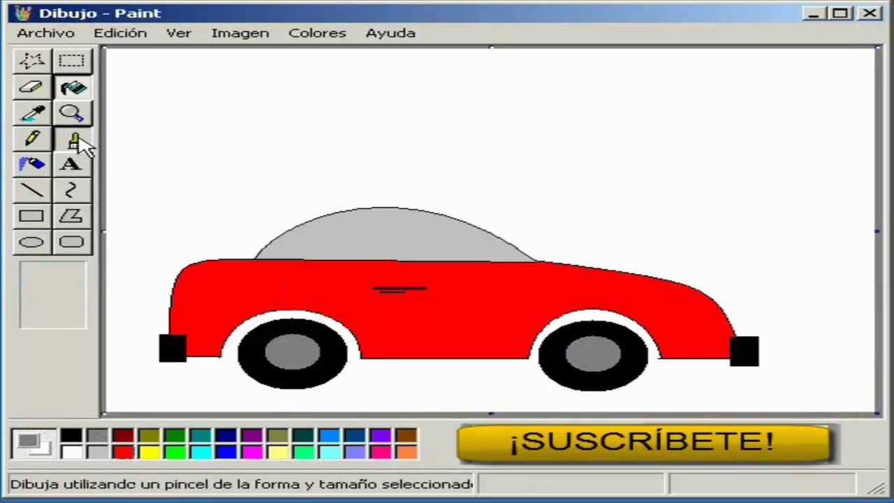 Tutorial de Paint  Dibujar un Automovil  YouTube