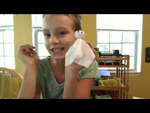 How to make Tissue Paper Ghosts!!