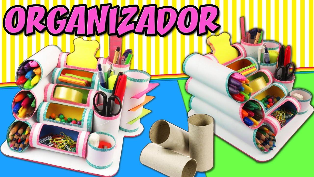 Mini organizador con rollos de papel higi nico youtube for Accesorio para papel higienico