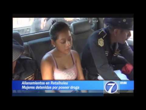 Capturan a dos mujeres con droga en Retalhuleu