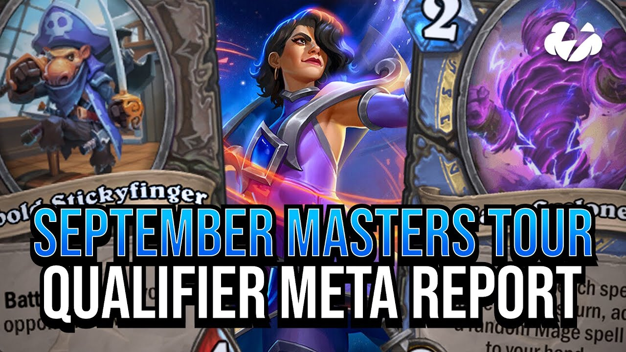 September Masters Qualifiers Meta Report! | Tempo Strategy Hearthstone [Scholomance Academy]