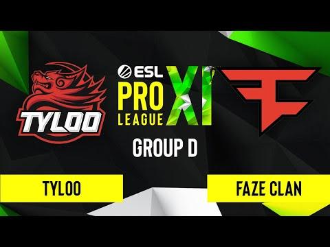CS:GO - FaZe Clan Vs. TYLOO [Mirage] Map 2 - ESL Pro League Season 11 - Group D